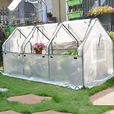 Daily Necessities Jardín de Invernadero, Conservatorio de jardinería al Aire Libre con Caja de plástico, Protección contra heladas de Invierno, Carpa de Invernadero portátil, Soporte de Tubo de Acero: Amazon.es: Hogar
