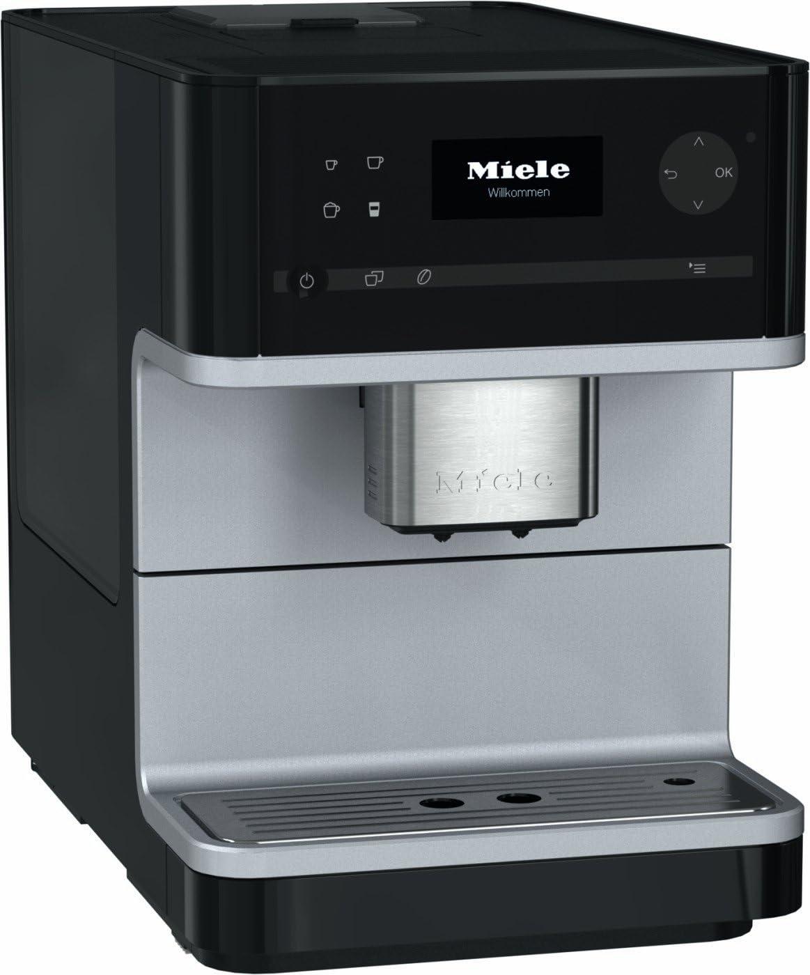 Miele Cm6100 Freestanding Bean To Cup Coffee Machine 18 Litre 1500 Watt 15 Bar Obsidian Black
