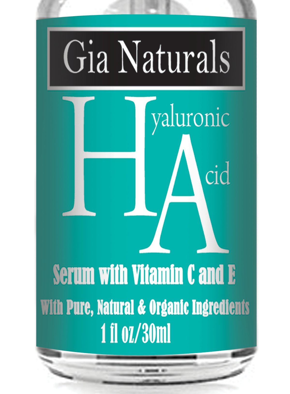 Pure, Natural, Organic (HA) Hyaluronic Acid Serum Cream. Superior Plant Sourced. Plus Vitamin C and E. Anti-Aging, Boosts Collagen, Reduces Wrinkles