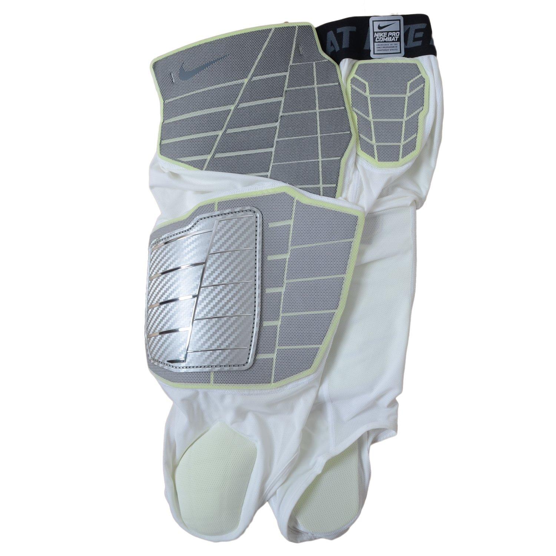 3b0050f8d6bd9 Amazon.com: Nike Men's Pro Combat Hyperstrong 3.0 Compression Hard-plate  3/4 Football Pants (Large, White / Grey / Light Volt): Clothing