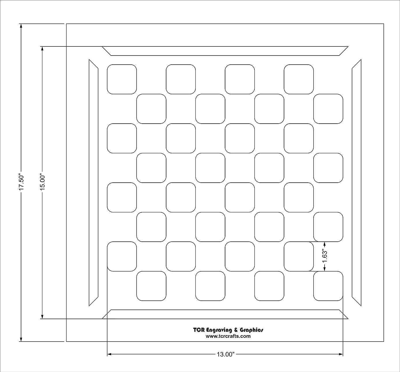 Chess//Checkerboard Stencil w//Border 15 X 15