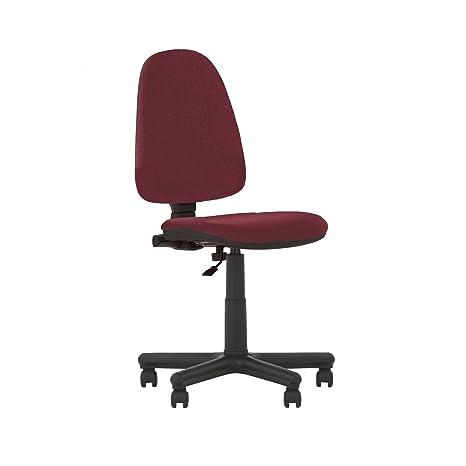 Silla de oficina ergonómica con respaldo inclinable. Asiento ajustable, respaldo regulable. Sin reposabrazos