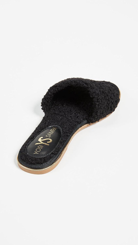 Yosi Samra Women's Rose Slide Sandal B079S15R6F 8 B(M) US|Black Cloud