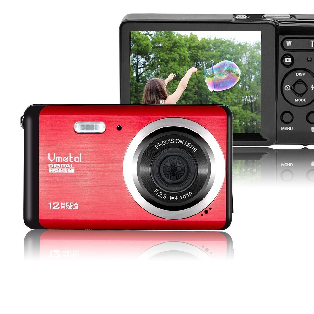 Mini Digital Camera,Vmotal 3.0 inch TFT LCD HD Digital Camera Kids Childrens Point and Shoot Digital Cameras Red-Sports,Travel,Holiday,Birthday Present by Vmotal