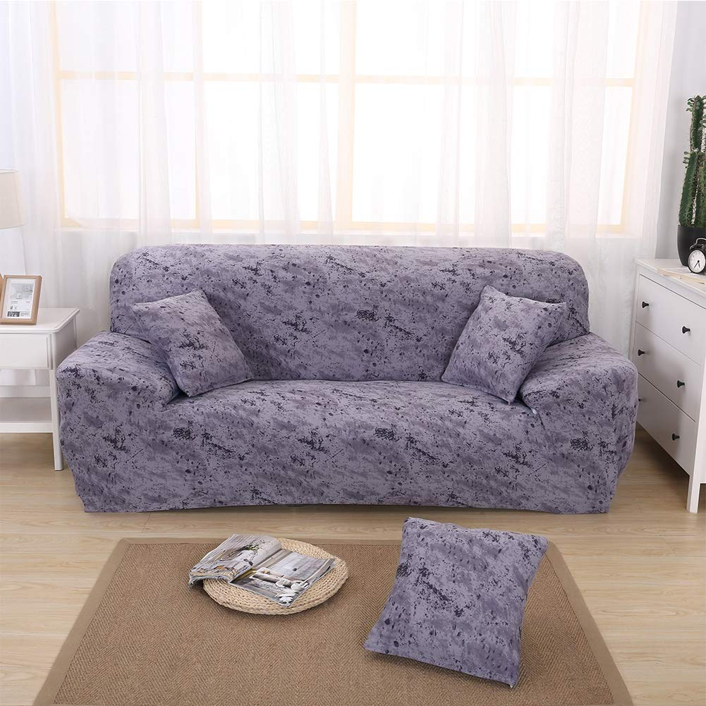 Ihoming Printed Stretch Sofa Slipcover Loveseat Slipcover Couch Slipcover with 2 Free Pillow Covers Loveseat, White Rose 2//3//4// Seat Sofa Covers