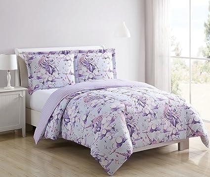 Disney Juvy Enchanted Unicorn Lilac Comforter Set Twin