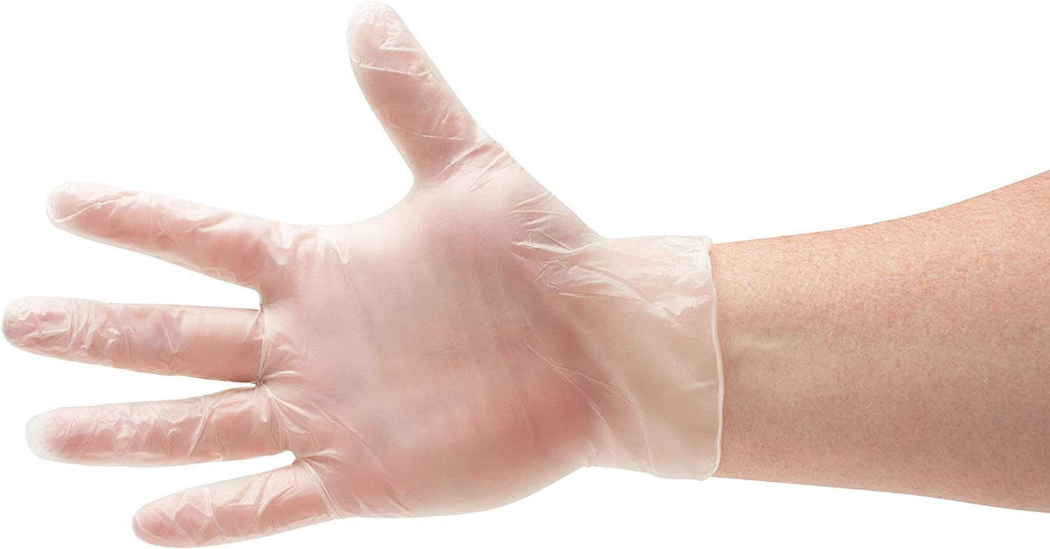 Disposable Food Gloves, Vinal Cooking Gloves, Clear, Size Medium, 2.0 Mil Thick, 1000 Pack