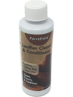 ForceField Leather Cleaner & Conditioner 4 oz. Bottle Travel Size (For Leather Furniture,