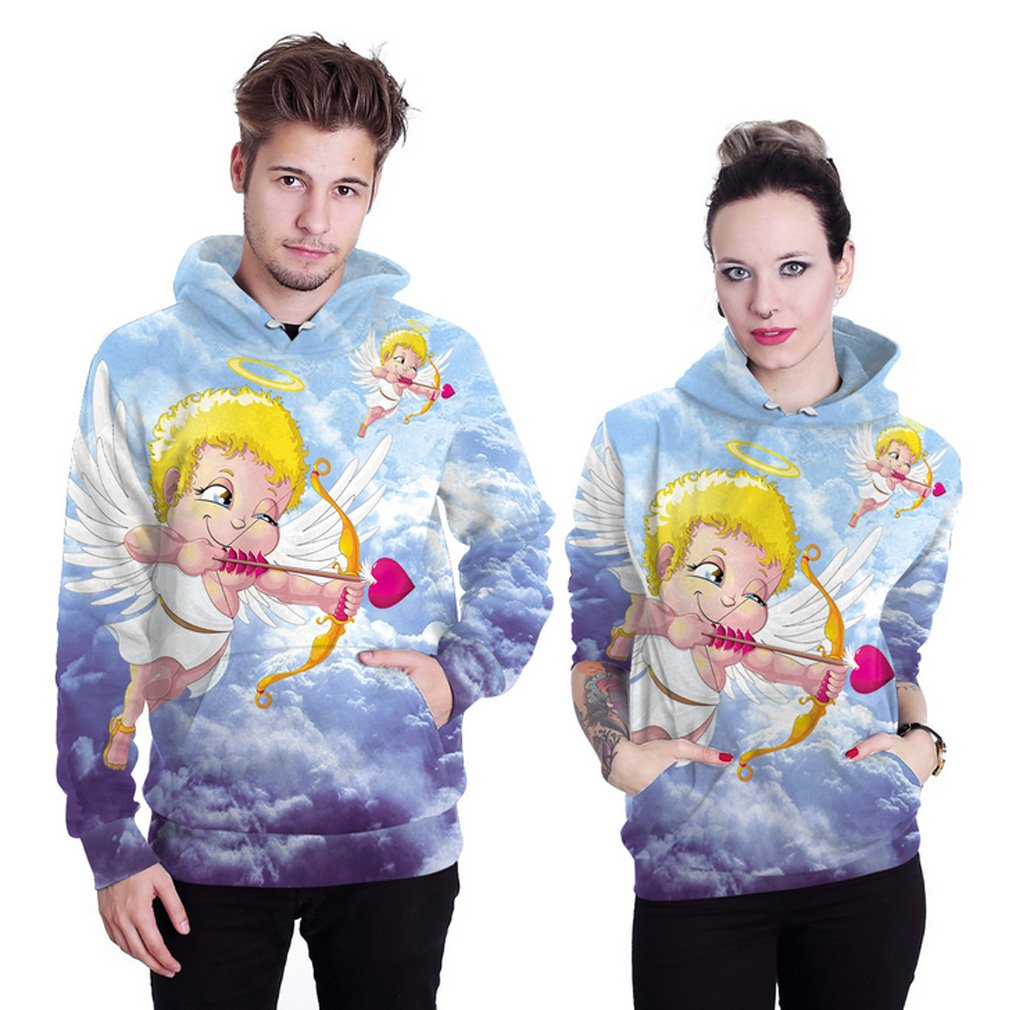 THENICE Neutral Long Sleeve Hoodies Sweatshirts lover Couples suits