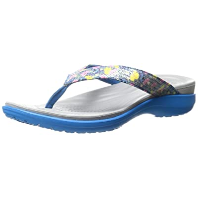 be0a9ec8c877c Crocs Women s Capri V Graphic Sequin W Flip Flop  8LIKu1205249  -  31.99