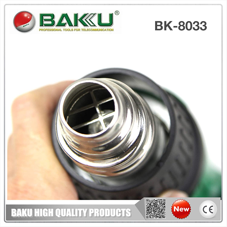 450W pistola de soldadura de aire caliente para reparación de teléfonos móviles BAKU BK-8033 pistola de soldadura de aire caliente de plástico: Amazon.es: ...