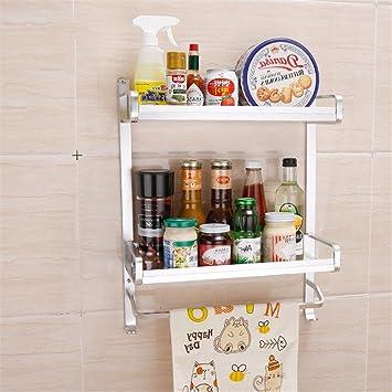 xiuxiandianju Barra de toalla de los muebles de cocina Estantes para toallas Estantes para anillos Estantes para cuartos de baño ...