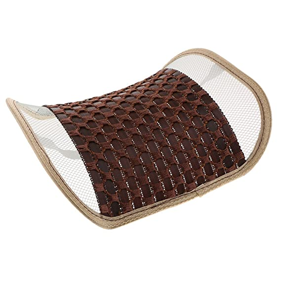 Rattan Viscose Backrest Back Support Cushion for Car Office Beige