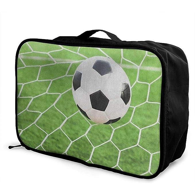 Bolsas de Viaje Balón de fútbol Cabra Maleta portátil Trolley ...