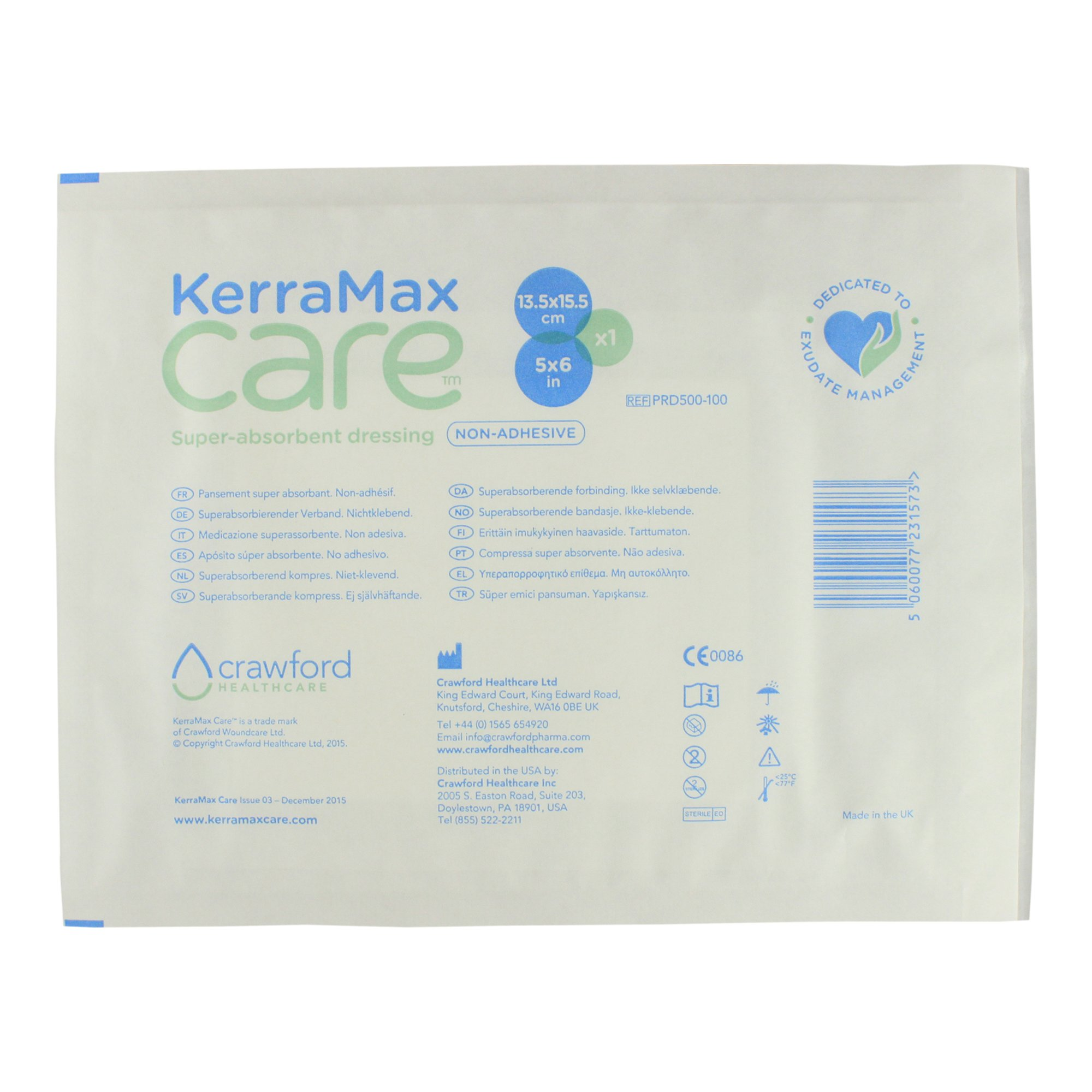 KerraMax Care 5''x6'' Super Absorbent Wound Dressing (PRD500-100) – Absorbs Exudate and Isolates it, Preventing Leaks or Drips for Improved Patient Comfort and Wound Care Treatment (1 Each)