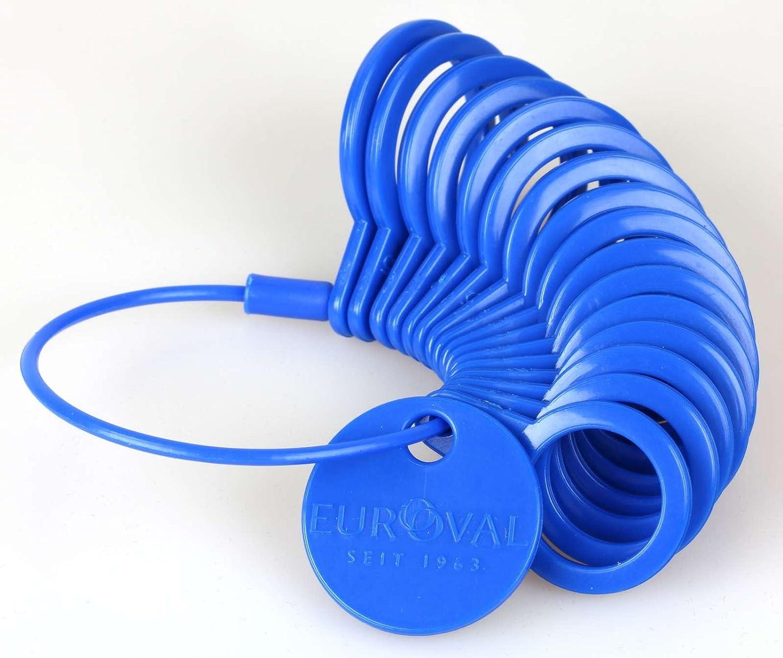 para el di/ámetro de anillos azul Anillo m/étrica Medidor de pl/ástico