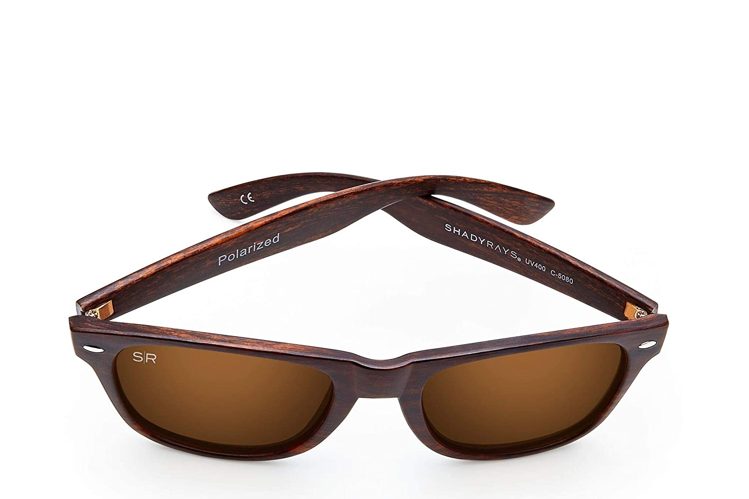 5fb4fa7e850 Shady Rays Classic Series Polarized Sunglasses Amber Woods  Amazon.ca   Clothing   Accessories