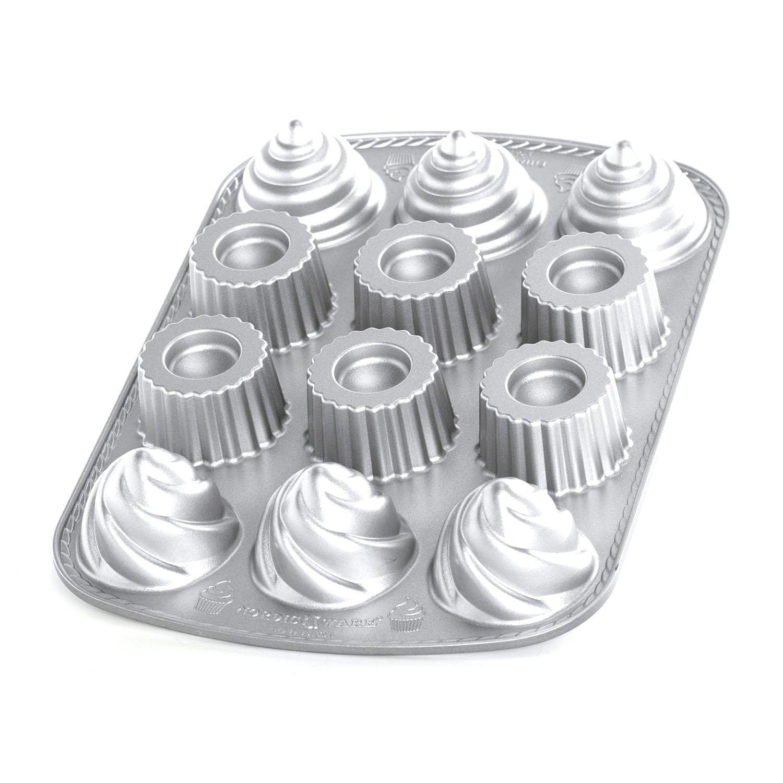 NordicWare 85024 molde lleno Cupcake Cake Design aluminio fundido: Amazon.es: Hogar