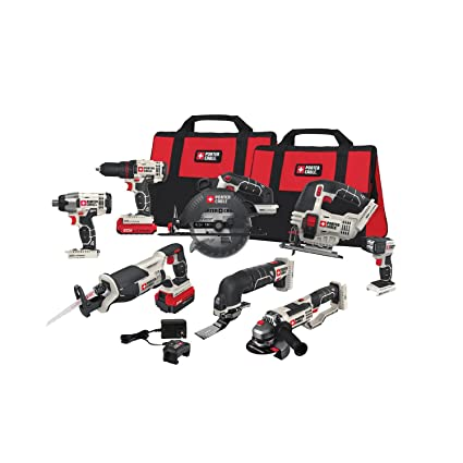 porter-cable pcck619l8 20v max lithium ion 8-tool combo kit ...