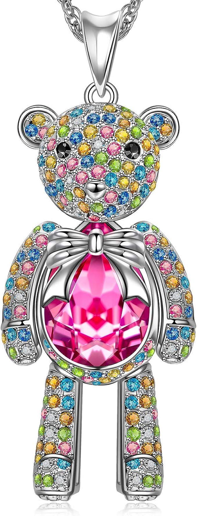 Amazon.com: J.NINA - Collar con diseño de oso de princesa ...