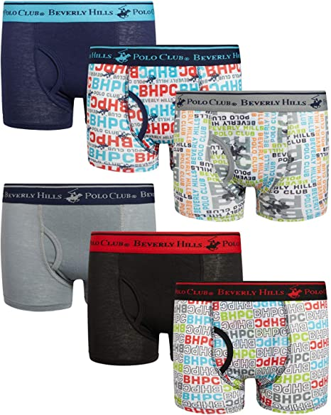 Pack of 9 Beverly Hills Polo Club Boys Underwear Briefs