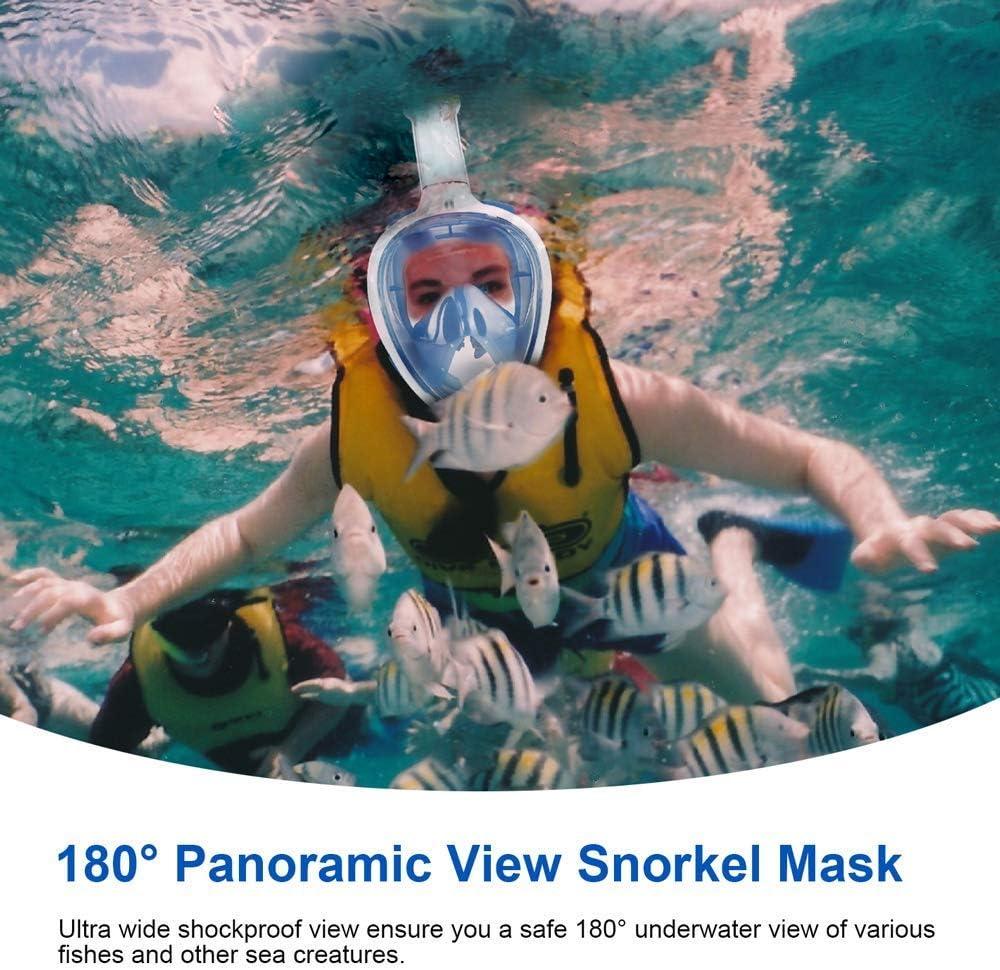 Emsmil La maschera da sub con antiappannamento e antigoccia per nuoto occhiali da sub immersioni e bambini GoPro ti consente di respirare naturalmente