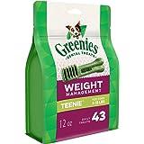 GREENIES Weight Management Teenie Natural Dog Dental Care Chews Weight Control Dog Treats, 12 oz. Pack (43 Treats)