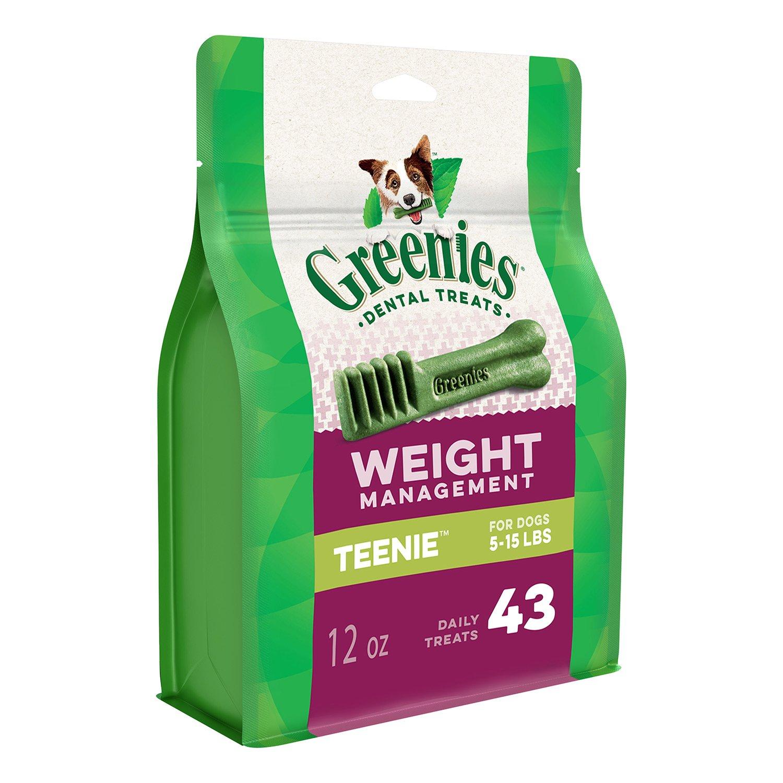 GREENIES Weight Management Dental TEENIE Dog Treats - 12 oz. 43 Treats