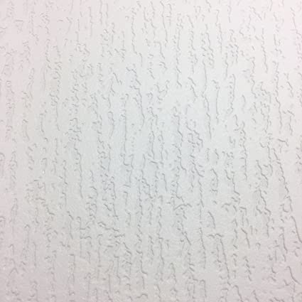 Paintable Vinyl Wallpaper Thick Durable Embossed Textured White Luxury Pyramide