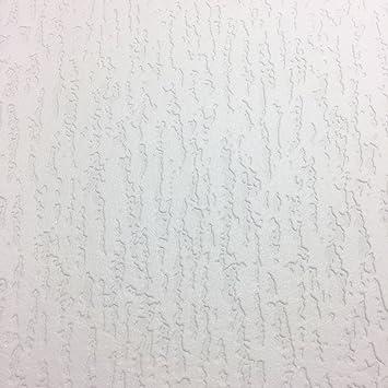 A Peindre Papier Peint Vinyle Epais Durable En Relief Texture Blanc
