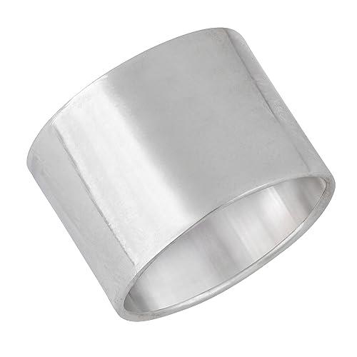 anelli argento a fascia