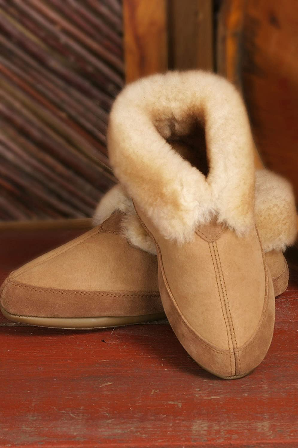 Fireside Sheepskin Slippers, COCOA, Size M14