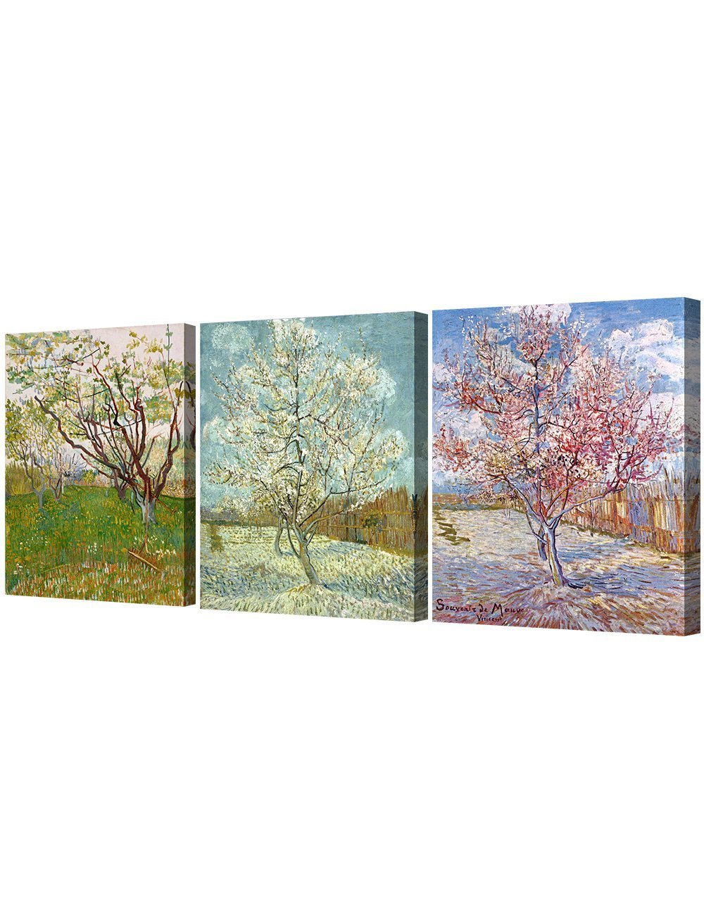 DecorArts Triptych Orchard Blossom Reproduction Image 1