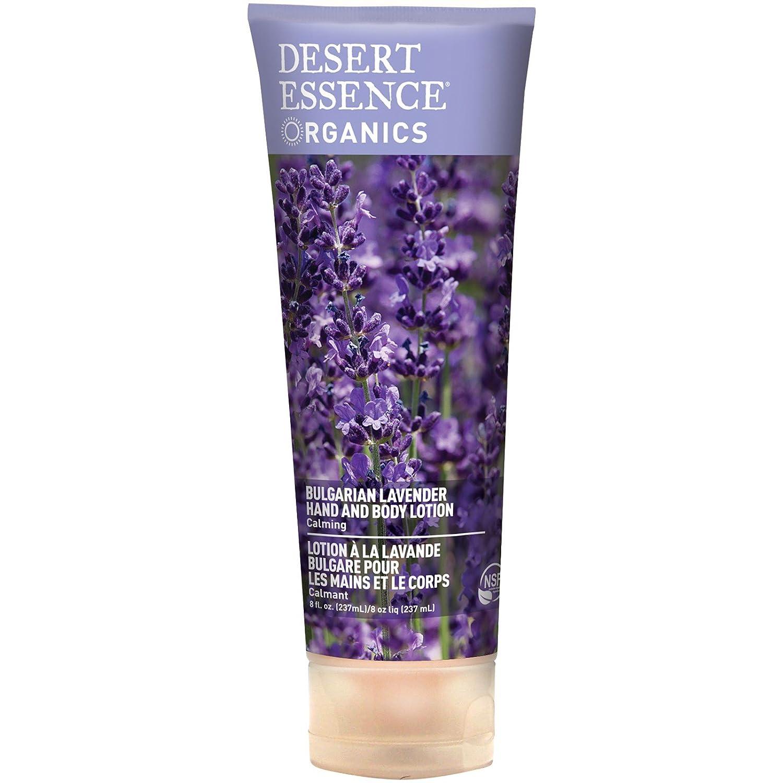 Desert Essence Organics Hand and Body Lotion, Bulgarian Lavender 8 oz (Pack of 2)