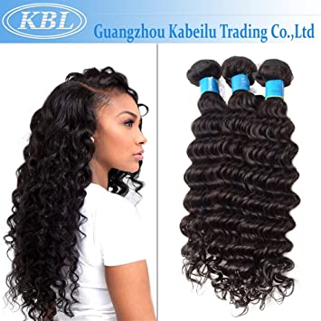 Amazon Com Kbl 100 Unprocessed Brazilian Deep Wave Virgin Hair 3