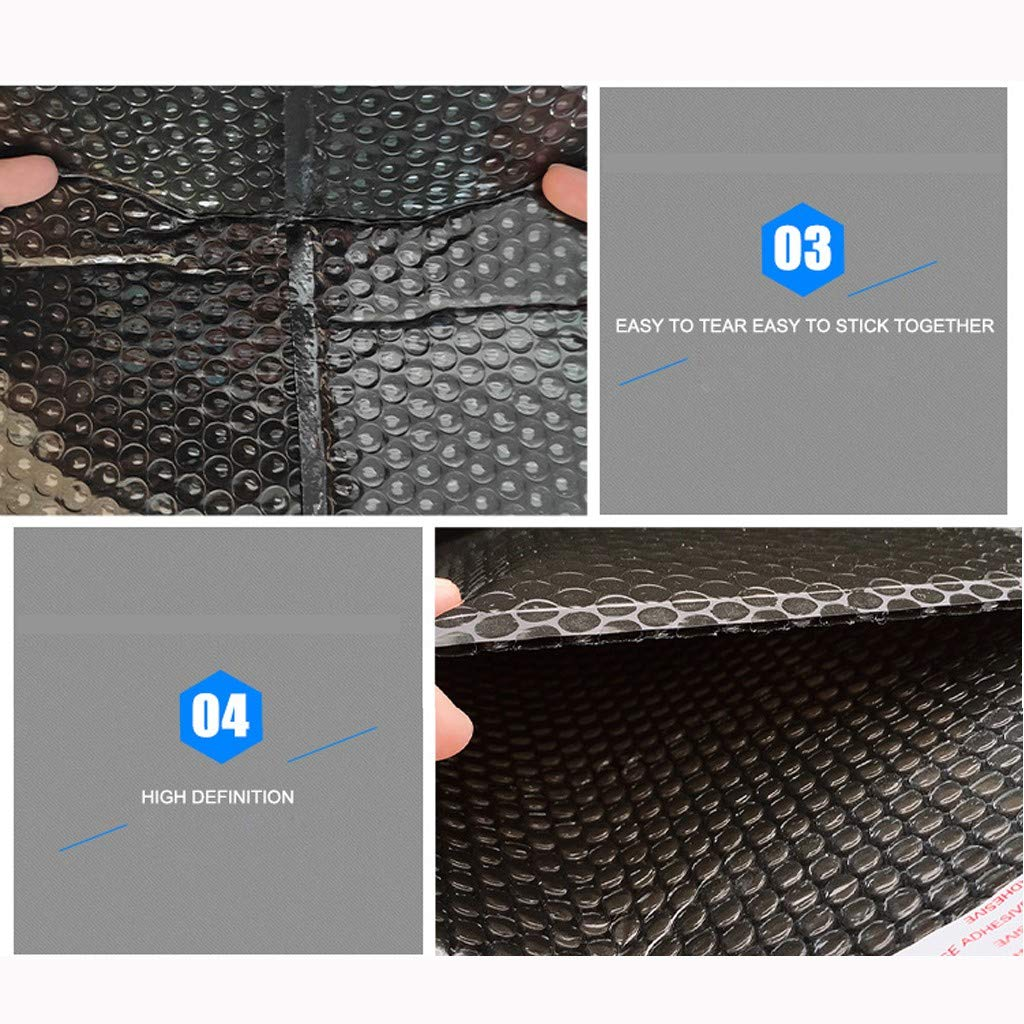 6x10IN Padded Envelopes Bubble Lined Poly Mailer Self Seal Black Packaging Shipping Supplies Waterproof Shipping Envelope Home Office 50Pcs Bubble Mailers Black, 4x8 inch