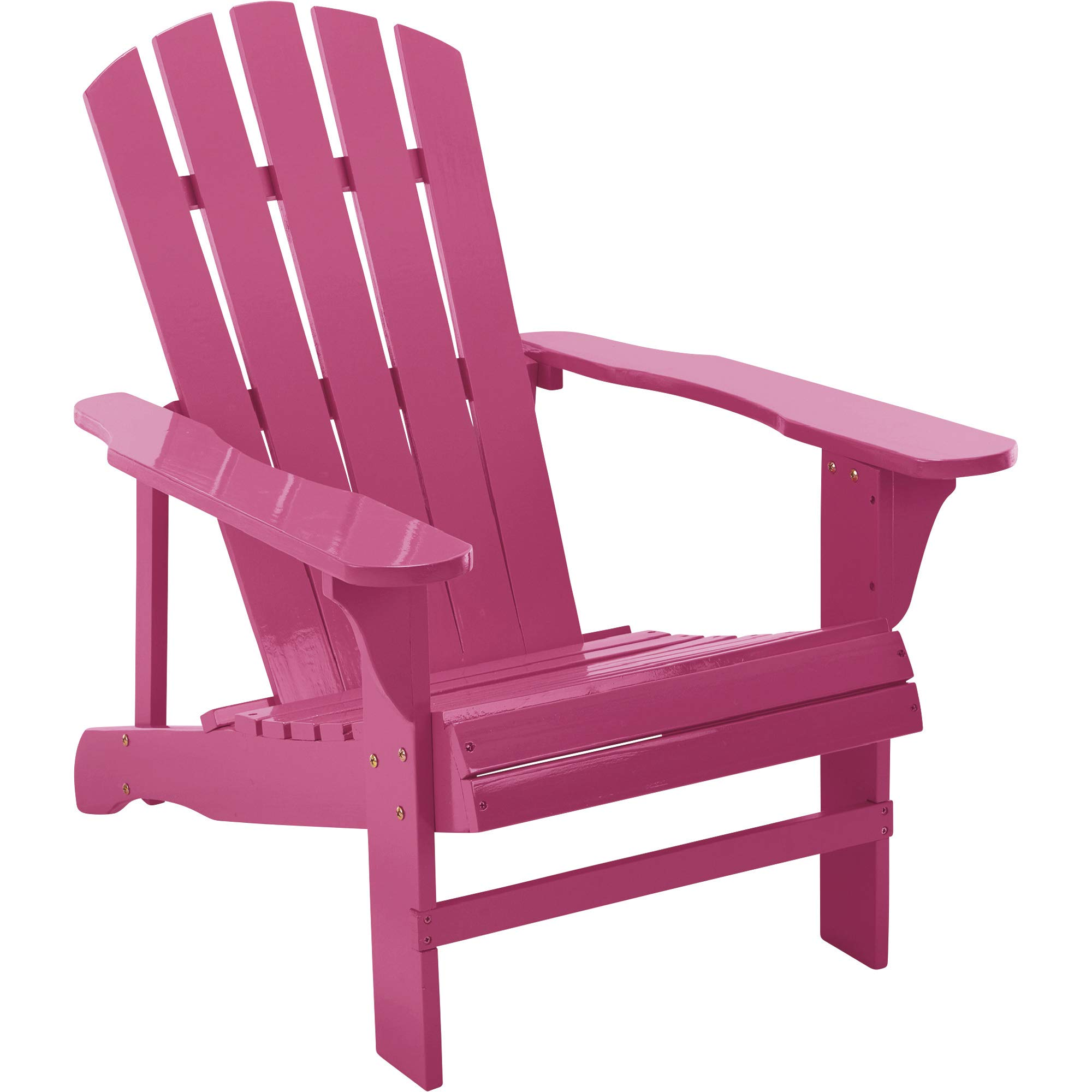 Leigh Country Classic Painted Wood Adirondack Chair - Pink by Leigh Country