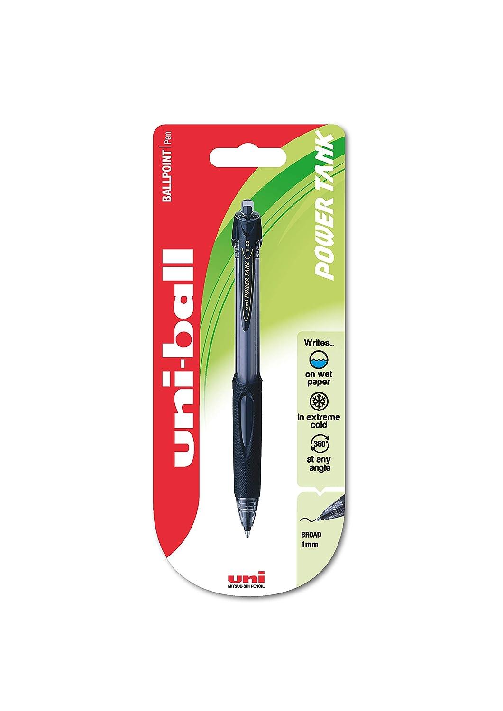uni-ball 768184000 SN-220 Power Tank Broad Retractable Ballpoint Pens Pack of 12 Black