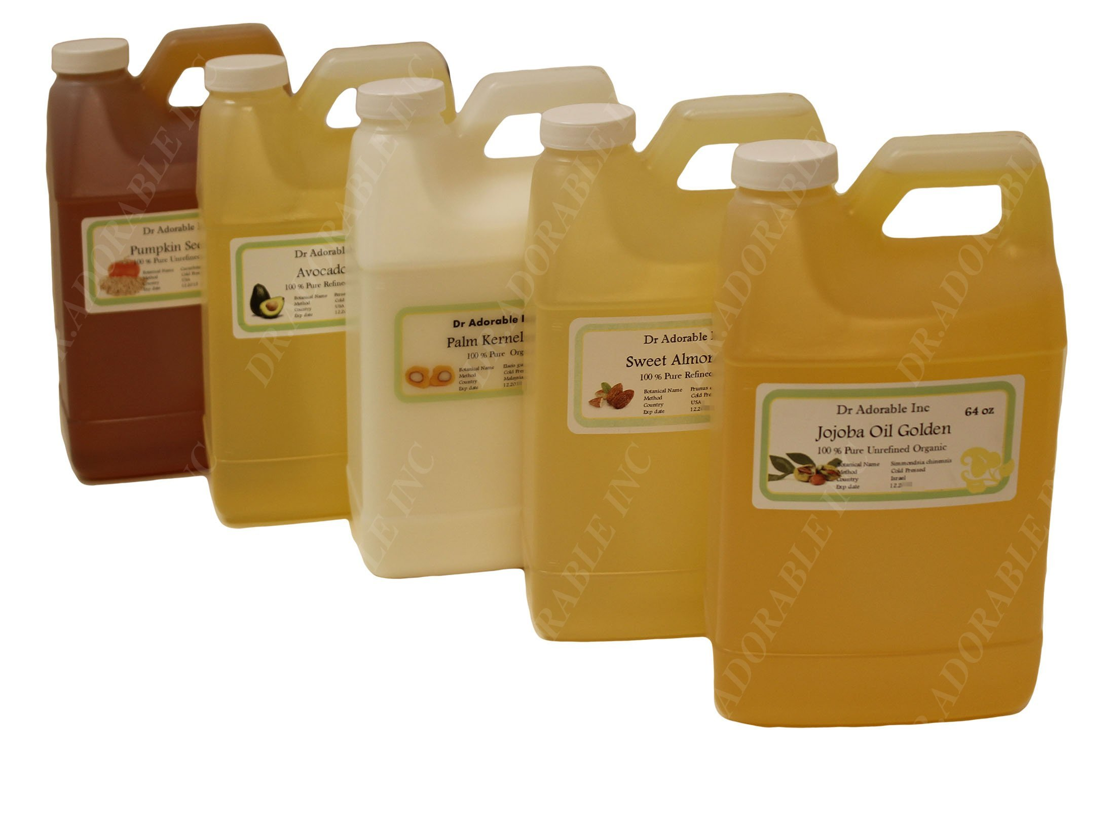 Peanut Oil Unrefined Organic 100 % Pure 64 Oz / 2 Quarters by Dr Adorable