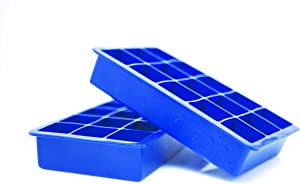 Kitch Cube Ice Tray 2 Pack Silicone Ice Cubes - Cobalt Blue
