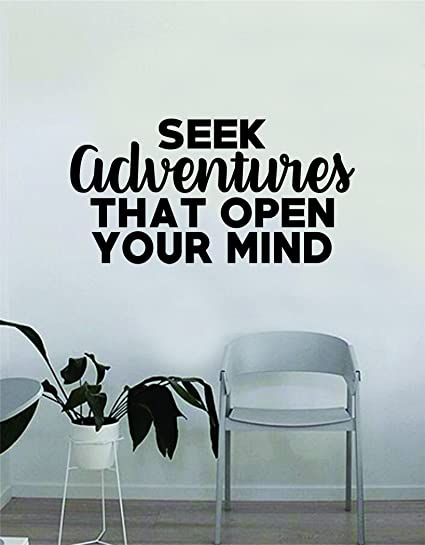Amazon Seek Adventures That Open Your Mind Quote Wall Decal
