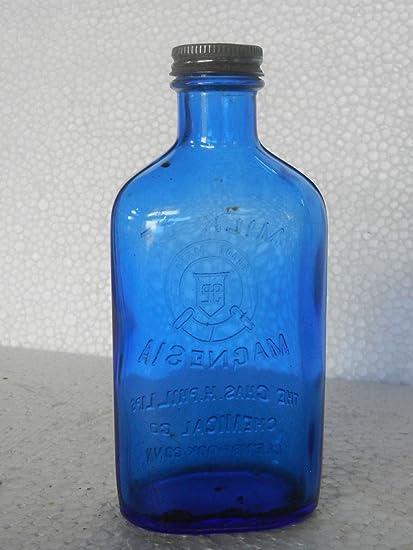 Vintage Phillips Milk Of Magnesia Glass Bottle, Original Cap