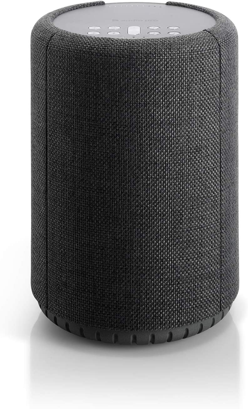 Audio Pro A10 HiFi Portable WiFi Bluetooth Wireless Connected Speakers for Computers, Laptop, Desktop, Cellphone & Tablet Compatible with Alexa - Dark Grey