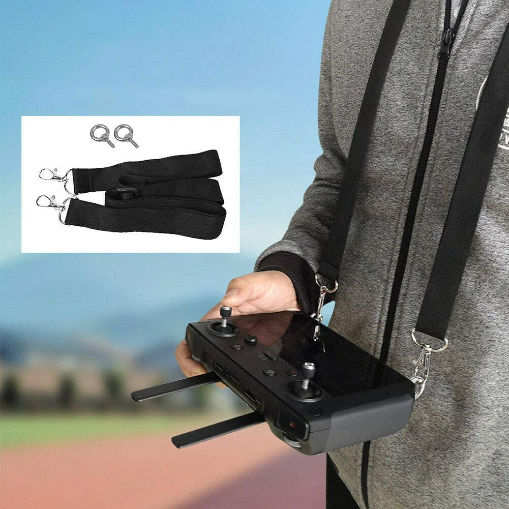 Fixed Shoulder Belt Anti Fall Sling Hanging Tape with Screw Kit Meijunter Adjustable Neck Lanyard Strap for DJI Mavic 2 Pro//2 Zoom Smart Controller