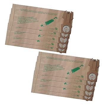 lirr 10 paquetes Robot aspirador Hoover piezas polvo polvo bolsas para VK118 VK119 VK120 VK121 VK122 Papel Bag Garbage Bags: Amazon.es: Hogar