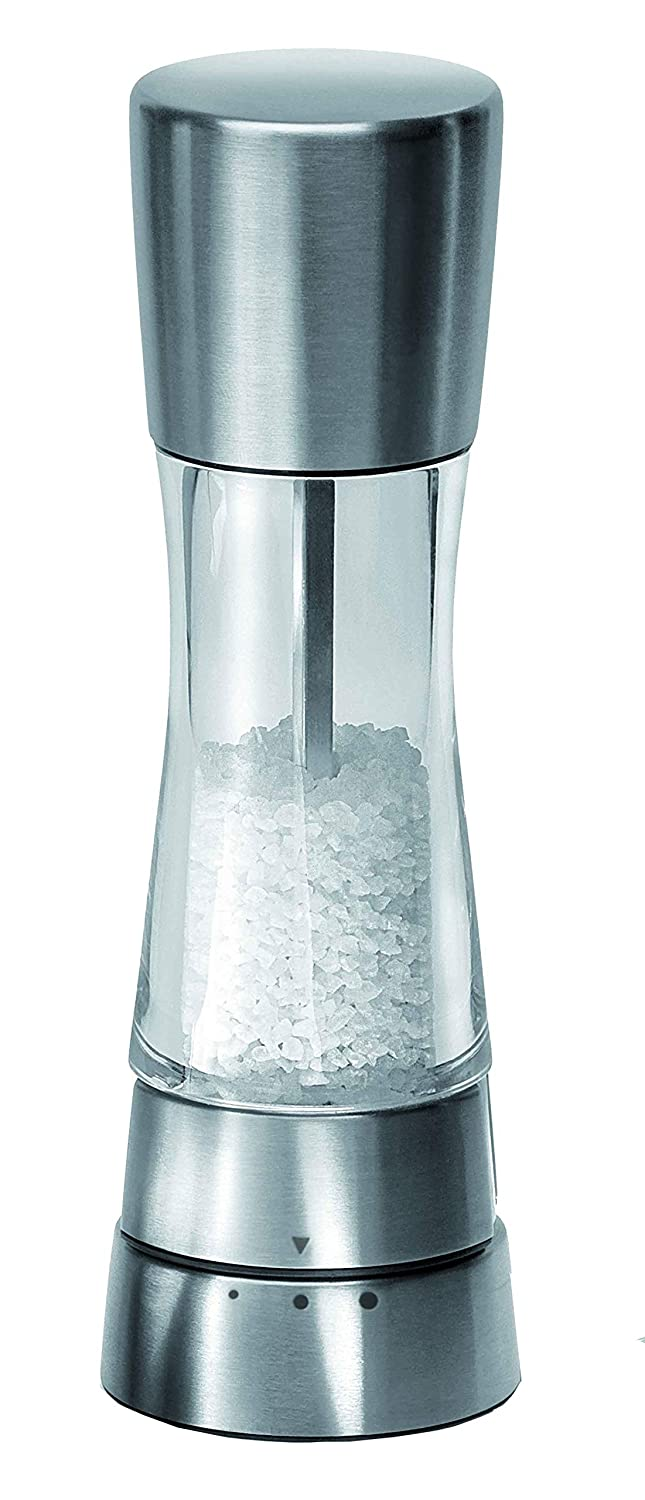 Cole & Mason Gourmet Precision 190 mm Stainless Steel and Acrylic Salt Mill H59402G