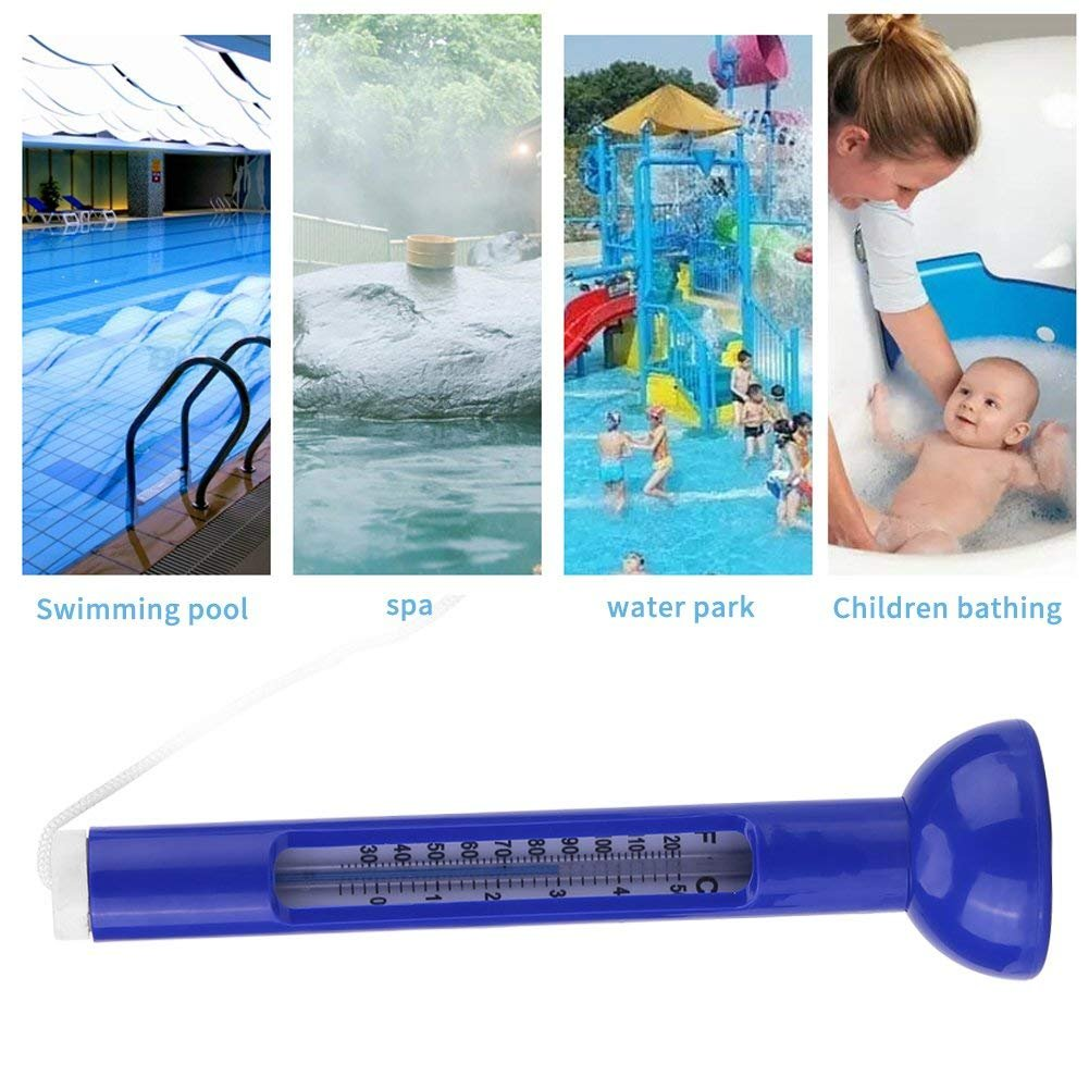 Swimming Pool Thermometer Floating Swimming Pool Spa Hot Tub Pond Water Temperature Guage with String