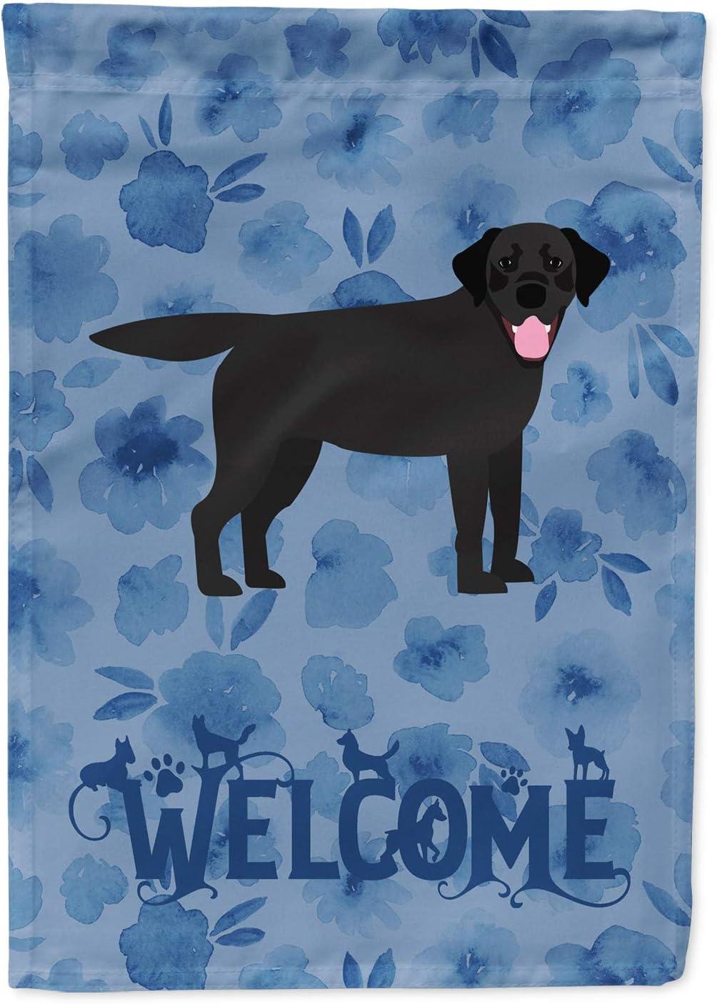 Caroline's Treasures CK6063GF Black Labrador Retriever Welcome Flag Garden Size, Small, Multicolor