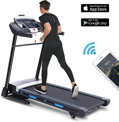 FUNMILY 3.25HP Automatic Incline Treadmill, Folding Treadmill with Bluetooth Speaker, Walking Running Machine with APP Control for Home Gym