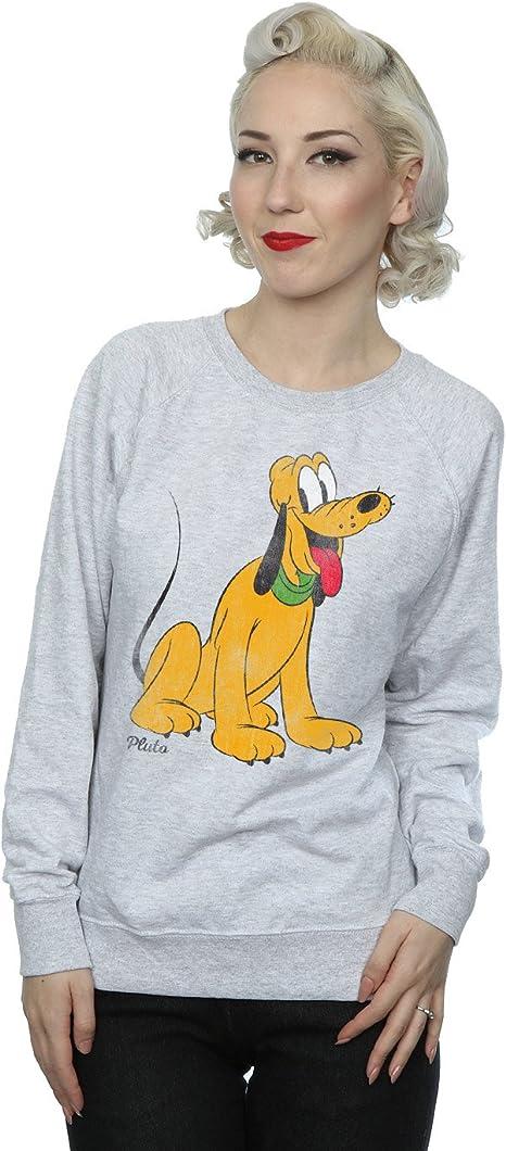TALLA M. Disney mujer Mickey Mouse Classic Pluto Camisa De Entrenamiento